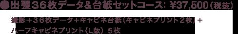 出張36枚データ&台紙セットコース: ¥37,500(税抜)